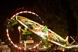 North Hollywood neighborhood fair at night