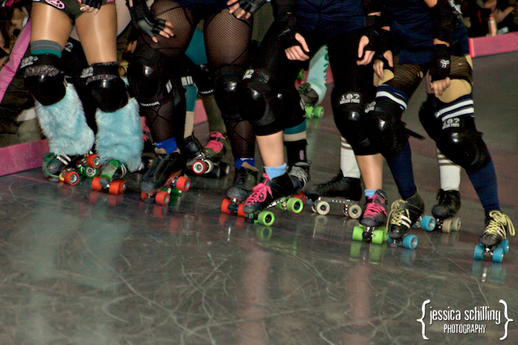 bright colorful fun wheels photography of skates during roller derby game