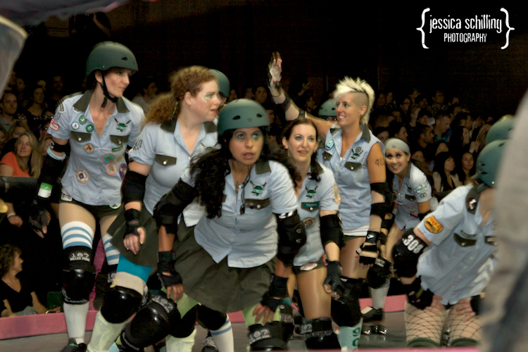 punk rock tough cookies roller derby skaters