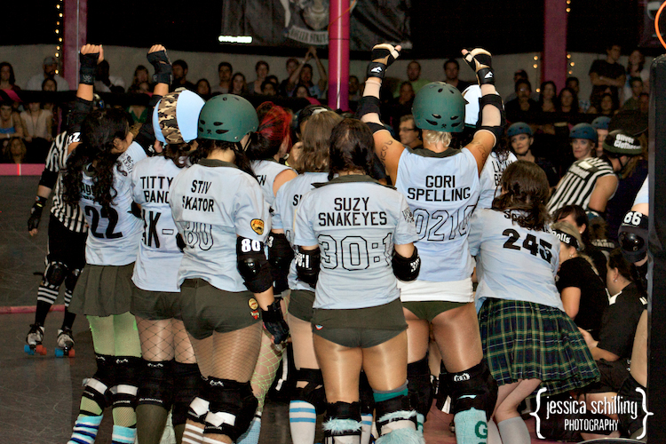 Congratulations to the Tough Cookies for winning the roller derby game