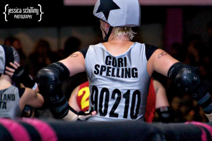 Punk Rock roller derby diva jammer Gori Spelling