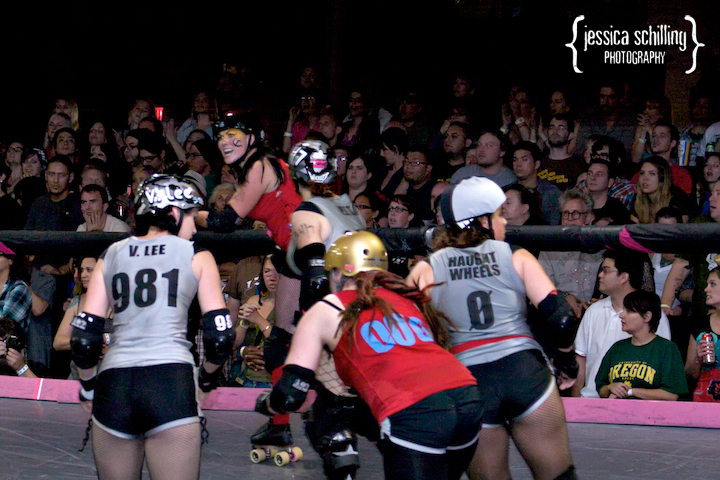 rumble on the track with Los Angeles derby dolls