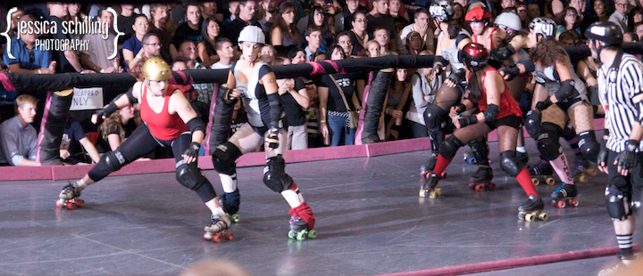 Exciting action and sports photography for the LA Derby Dolls