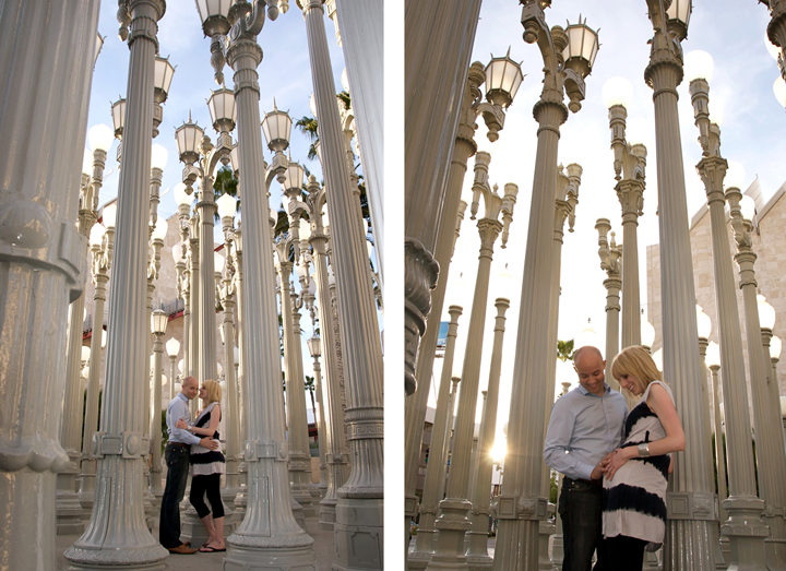 quirky cool fun couples photography in Los Angeles at LACMA