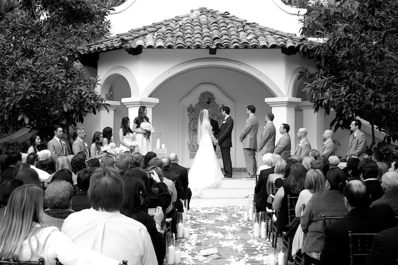 Rancho Las Lomas outdoor wedding ceremony in Orange County California