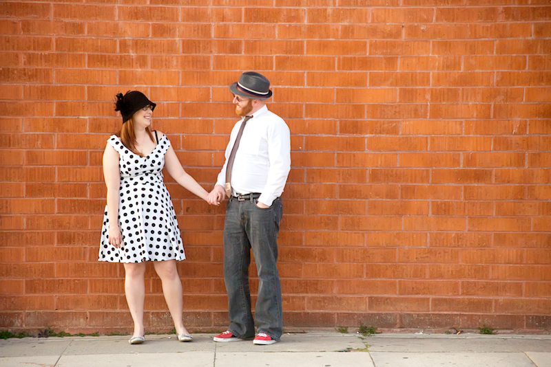 Los Angeles offbeat indie cool engagement photography by affordable wedding photographer Jessica Schilling