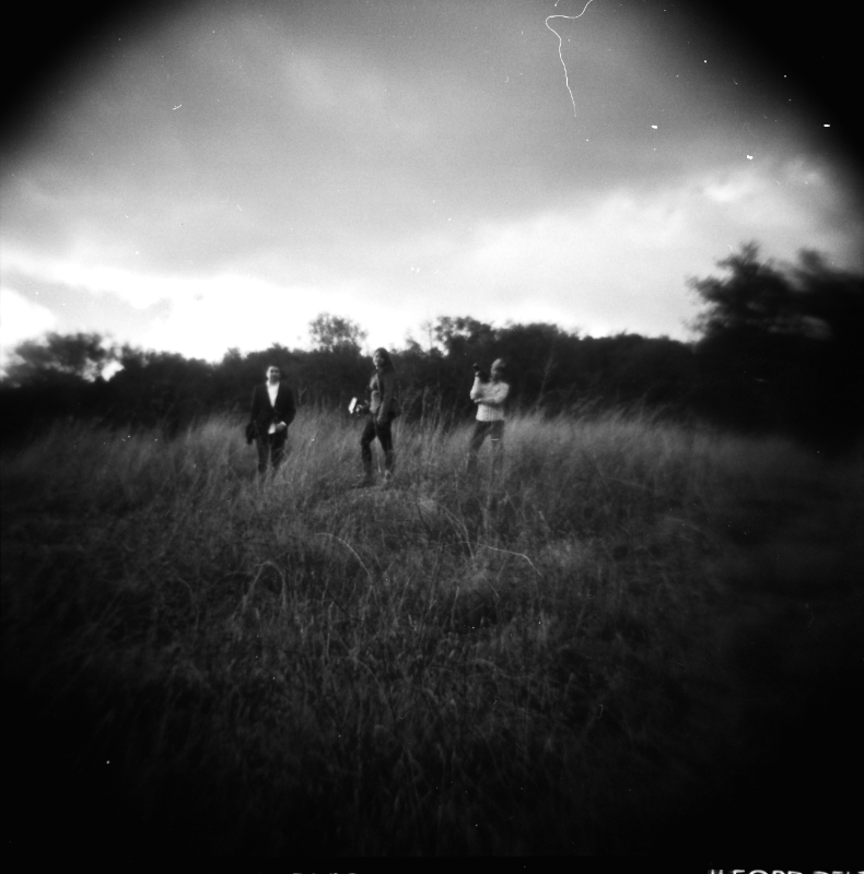 Los Angeles dramatic outdoor portraits on Holga black and white film