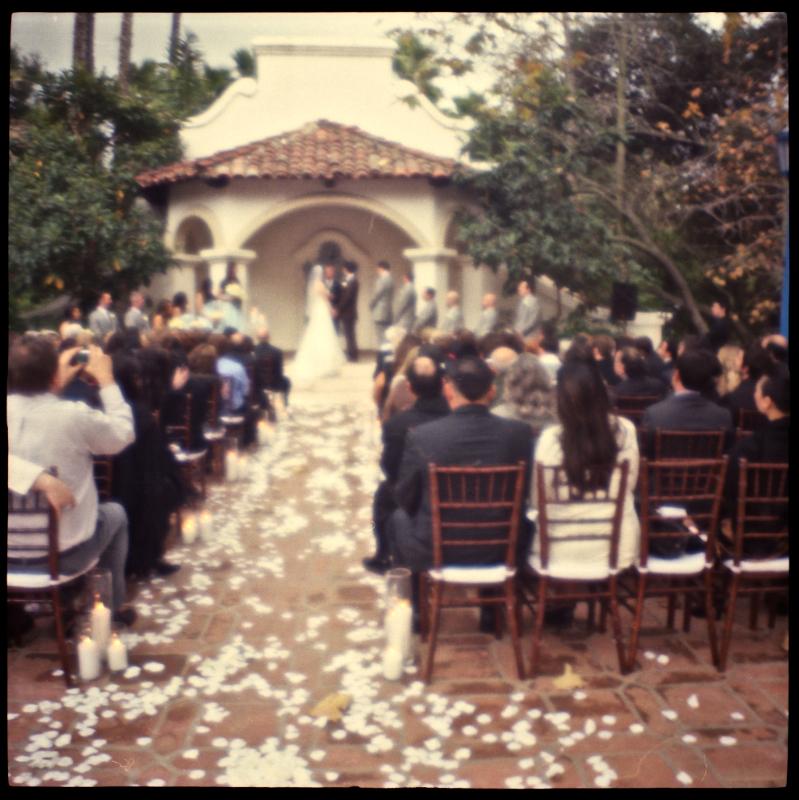 Rancho Las Lomas indie wedding with toy cameras and film