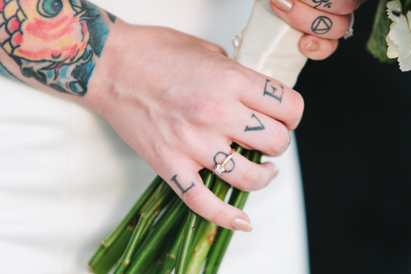 Los Angeles indie offbeat alternative wedding photographer for cool tattooed couples