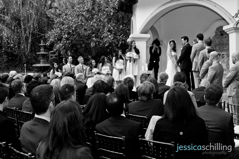 Modern original artistic documentary wedding photography of ceremony in black and white