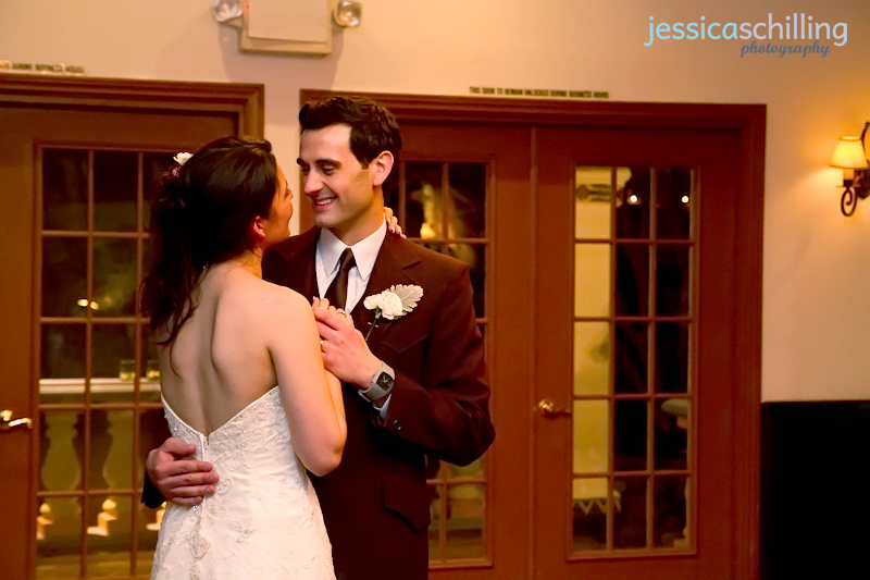 photojournalist and documentary wedding photographer Jessica Schilling captures first dance at wedding reception