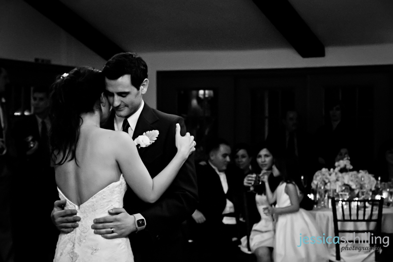 Classic artistic black and white dramatic first dance wedding photography