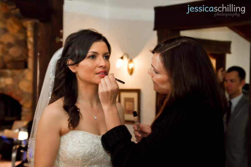 Documentary indie modern wedding photography bride getting ready makeup