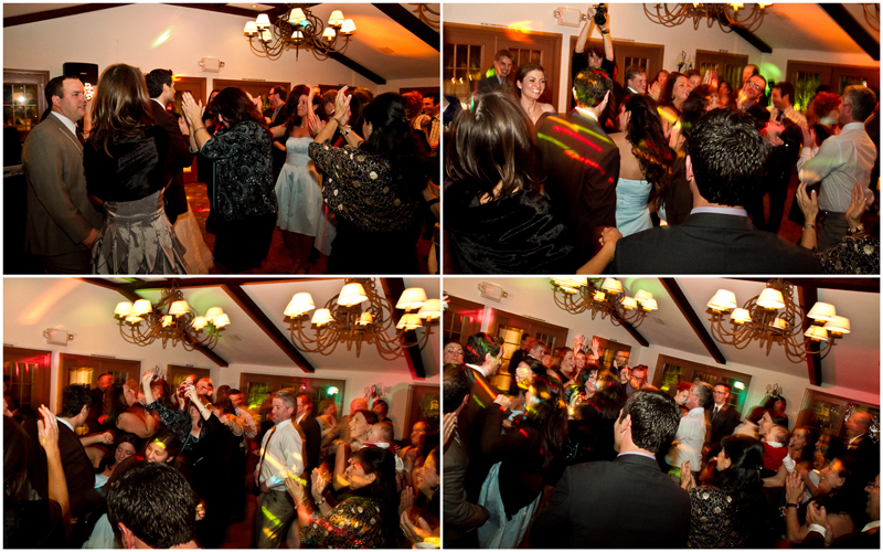 indie fun quirky dancing with lights and motion during wedding reception at Rancho Las Lomas