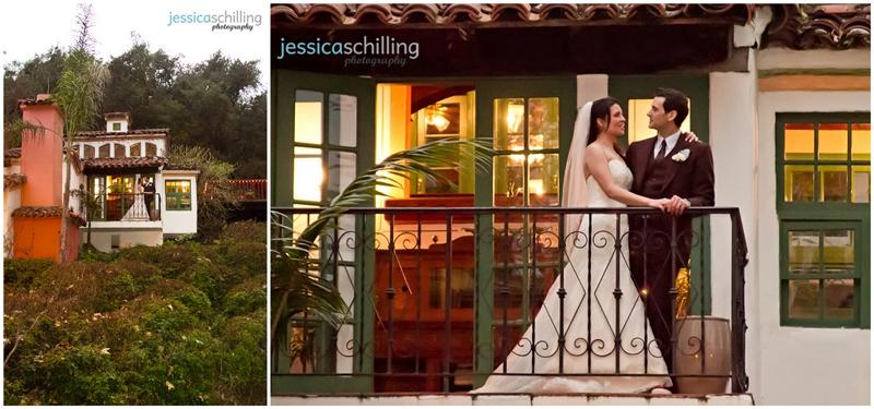 Bride and Groom portraits with stunning views of beautiful Orange County wedding venue Rancho Las Lomas