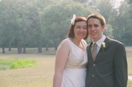 Indie DIY wedding portraits, photography on 35mm film by Laura Ciociola for my wedding in 2007