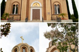 Beautiful Saint Sava Serbian Orthodox Church in San Gabriel Los Angeles