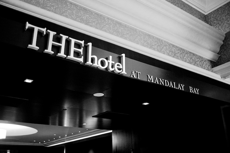 Las Vegas wedding venue The Hotel at Mandalay Bay where bride gets ready
