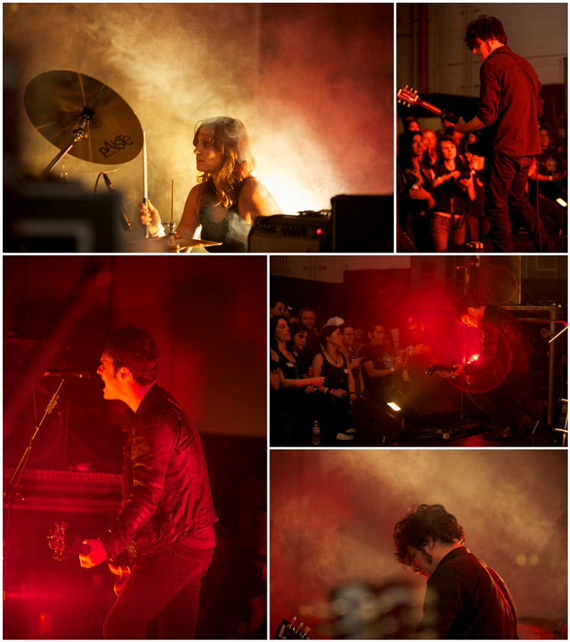 Indie rock band Black Rebel Motorcycle Club BRMC photographed in concert by Jessica Schilling in Los Angeles