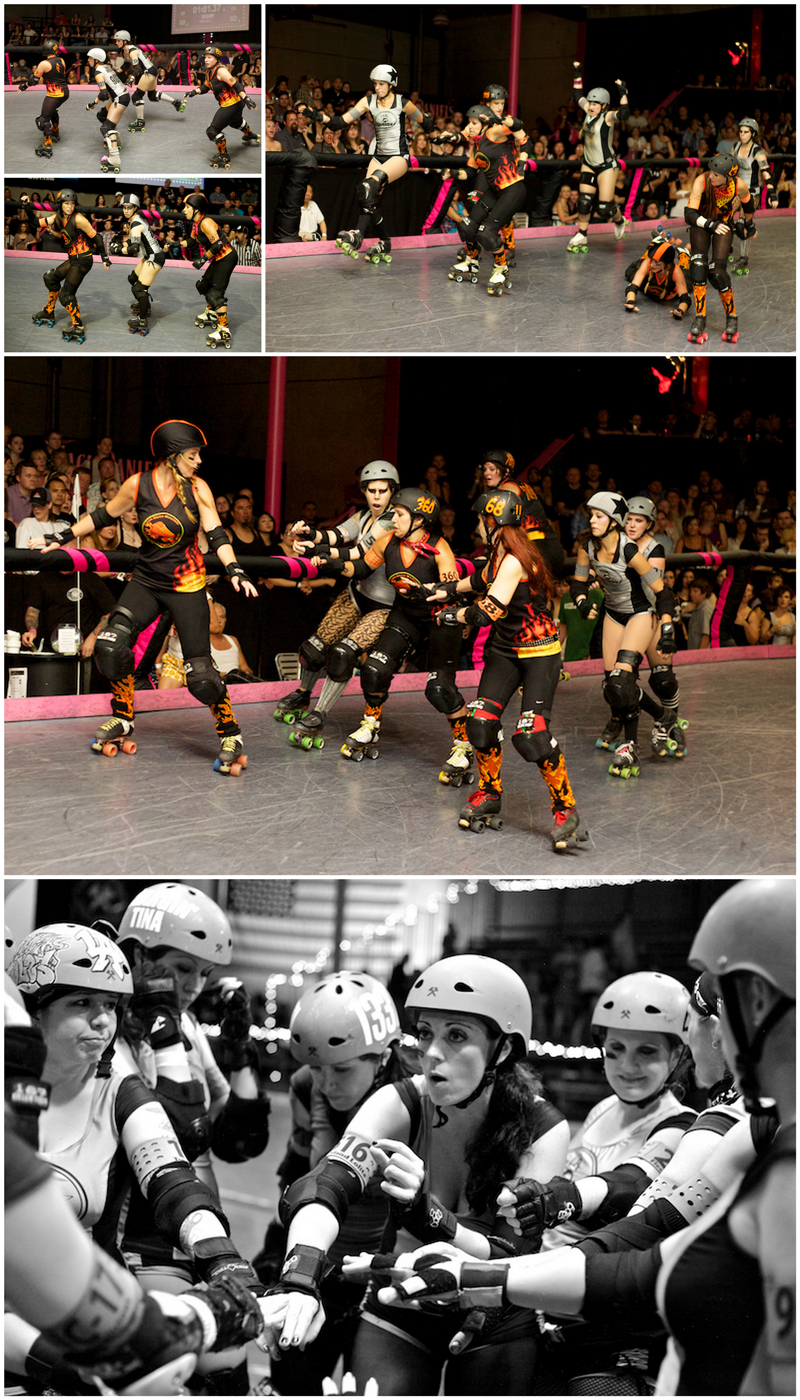 Los Angeles sports photographer Jessica Schilling captures action and excitement during roller derby game