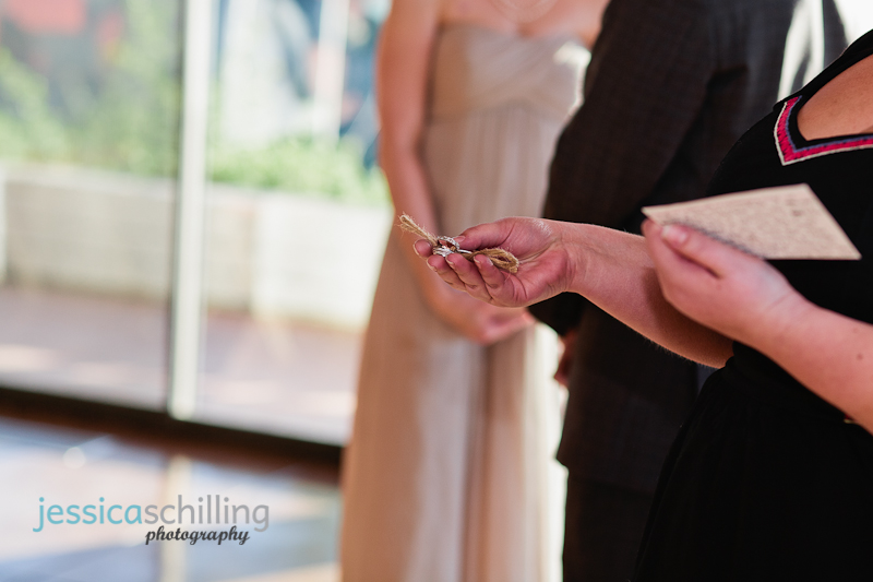 ring warming tradition where each guests blesses the couples rings during wedding ceremony