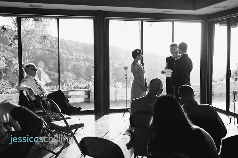 Modern artistic black and white wedding photography of sunset ceremony