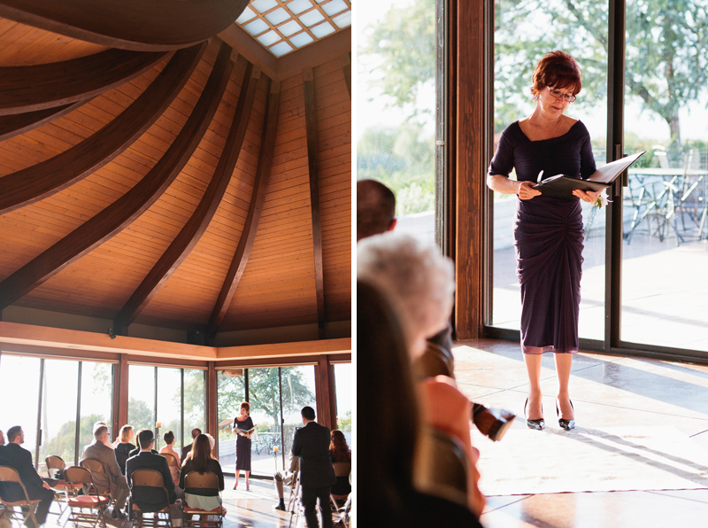 beautiful wooden roof and skylight in wedding ceremony room at Meditation Mount in Ojai California