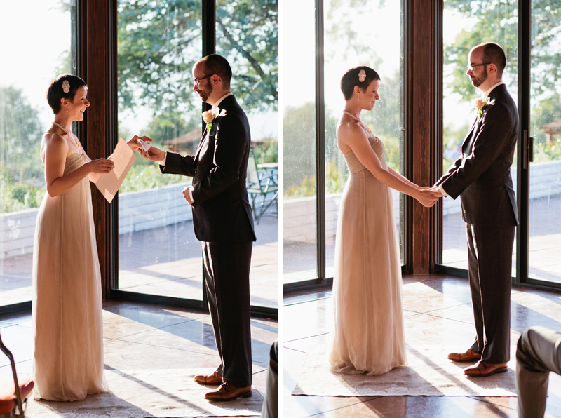 Sweet moments of bride and groom emotional during their personal vows