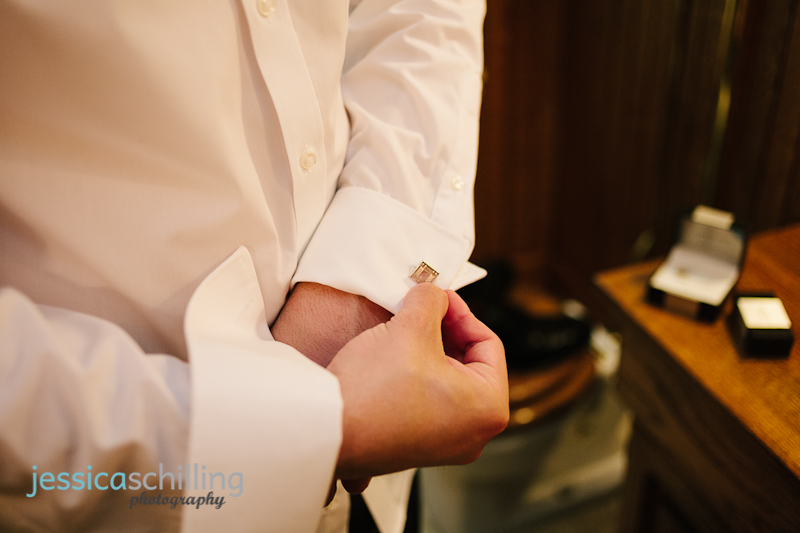 groom cufflinks at vintage Los Angeles wedding