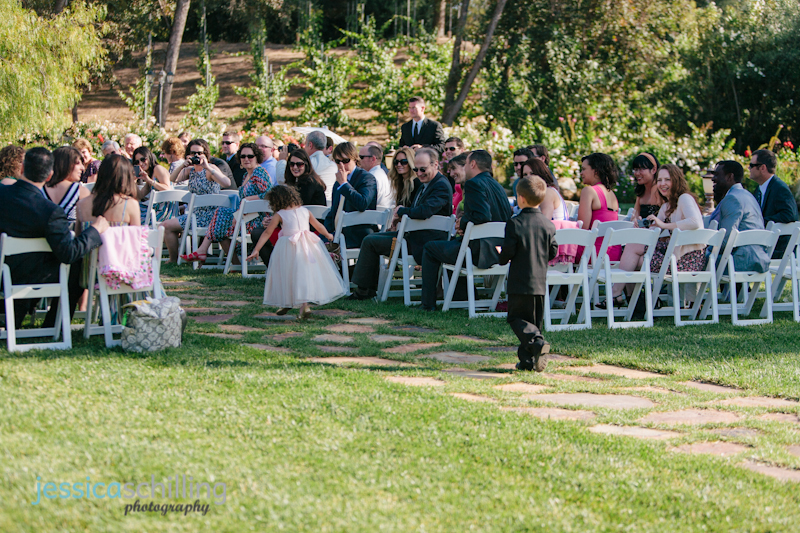 flower girl and ring bearer at modern Persian wedding in Temecula