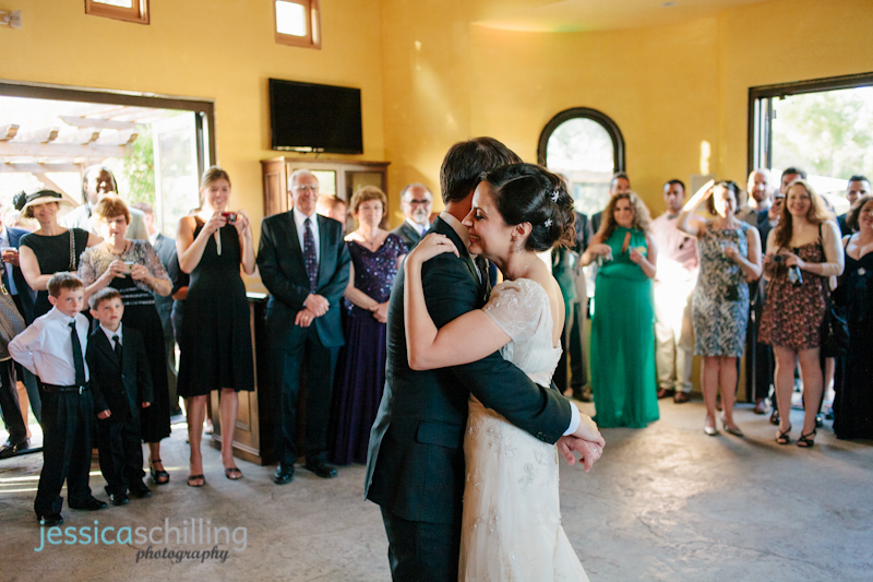 bride and groom first dance by indie wedding photographer Jessica Schilling