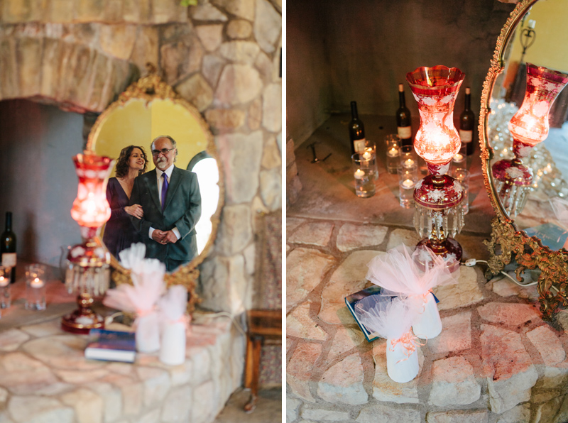 Modern Persian wedding ceremony traditions lamp, mirror, sugar cones