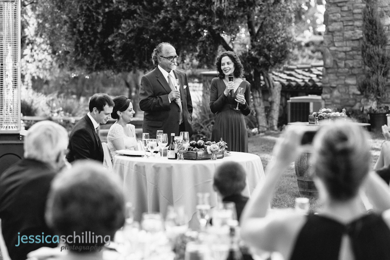 modern hip black and white indie wedding photography toast reception