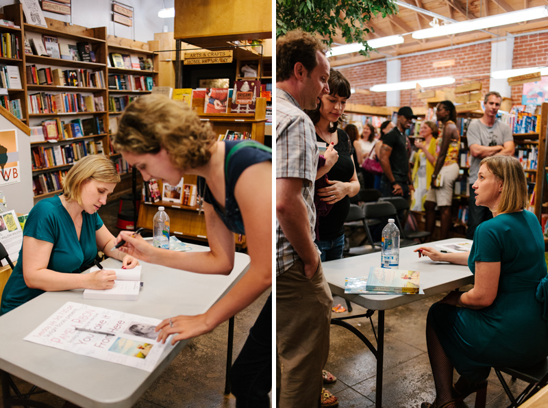 fans line up for book signing with author Pamela Ribon