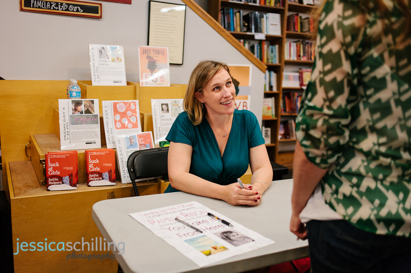 Quirky, funny, adorable Los Angeles author Pamela Ribon at book signing event