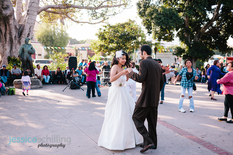 Downtown LA And Eagle Rock Center For The Arts Wedding Photographer