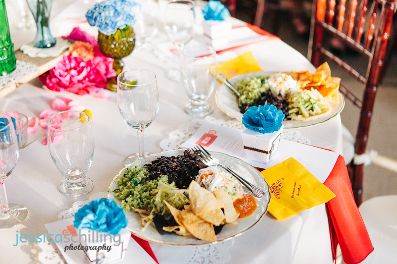 Food Photographer Table Decor For Dinner At Colorful Fun Bright Cheery Mexican Wedding In Los Angeles