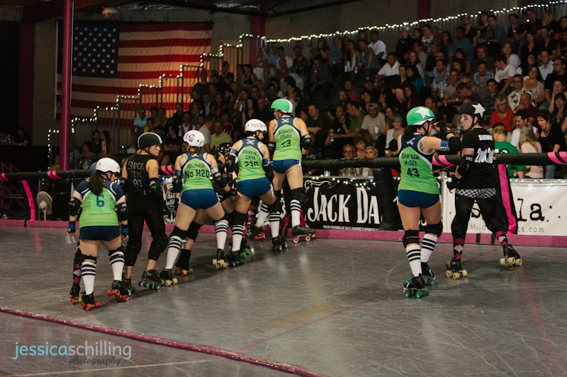 Los Angeles derby dolls vs. San Diego derby dolls roller derby