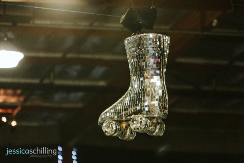 Los Angeles roller derby disco ball roller skate