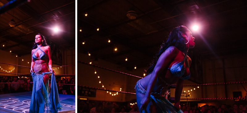 Indie Los Angeles photography of Lucha VaVoom burlesque dancer