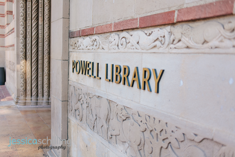 UCLA Powell Library engagement photos in Los Angeles