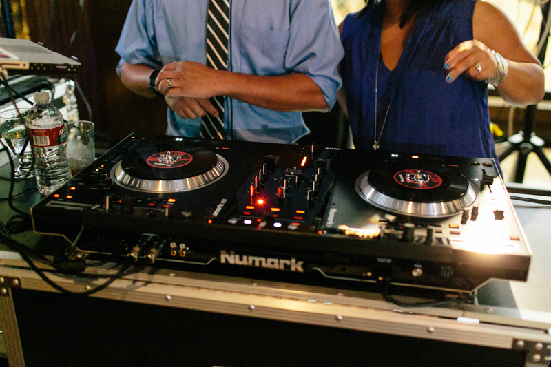 dj turntables at wedding reception Los Angeles