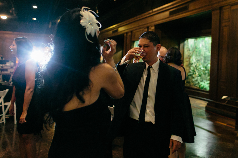 unique, indie, offbeat wedding reception at Natural History Museum LA