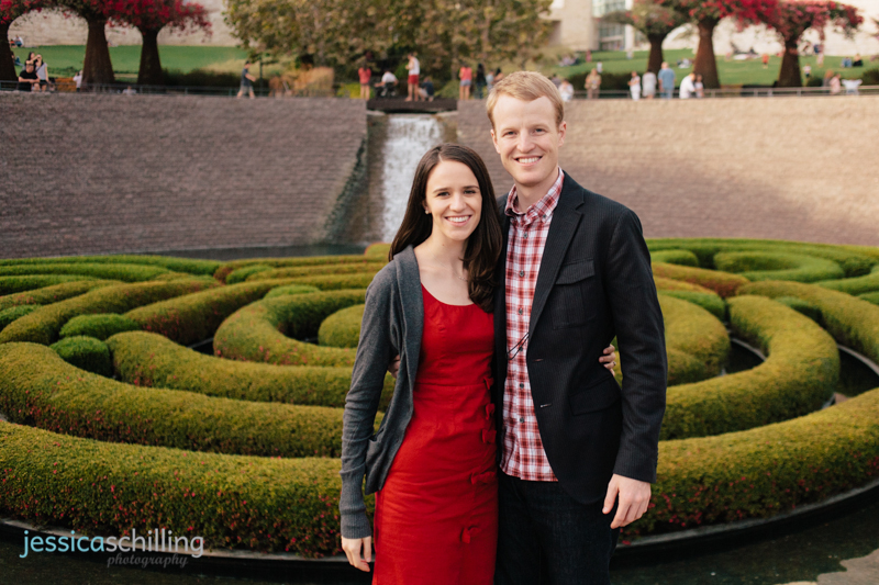 Getty Center Museum maze engagement photos Los Angeles