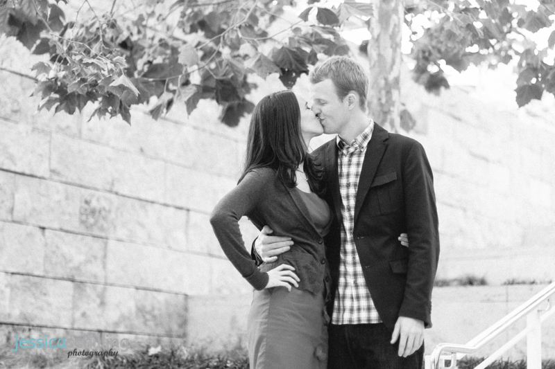 modern artistic black and white engagement photography Los Angeles