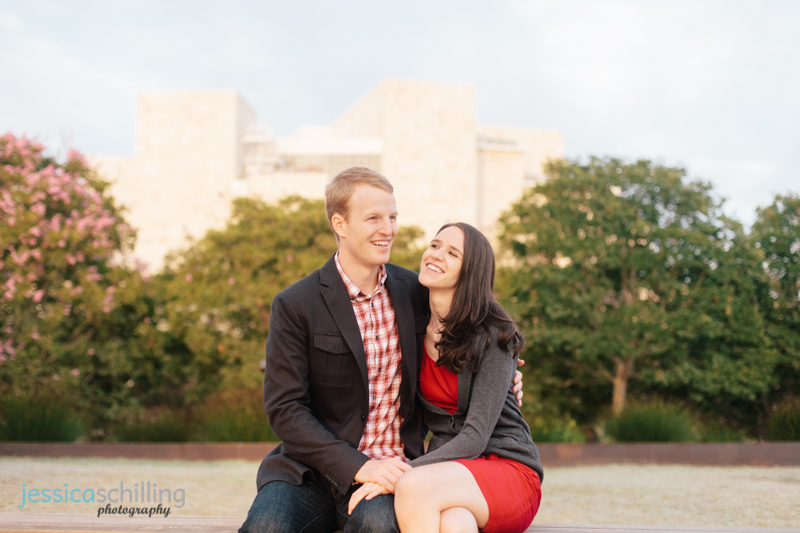 Getty Center Los Angeles indie wedding and engagement photography