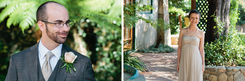 Ojai wedding photographer. Couple first look before ceremony. Indie alternative weddings.