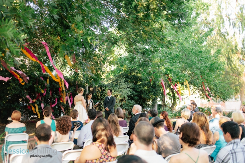 Beautiful unique outdoor wedding ceremony at Women