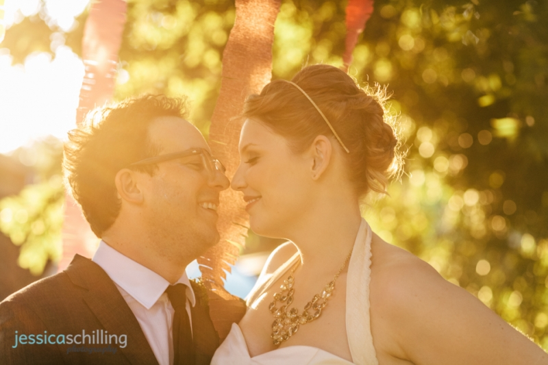 sunset bride and groom wedding portraits Los Angeles southern California light
