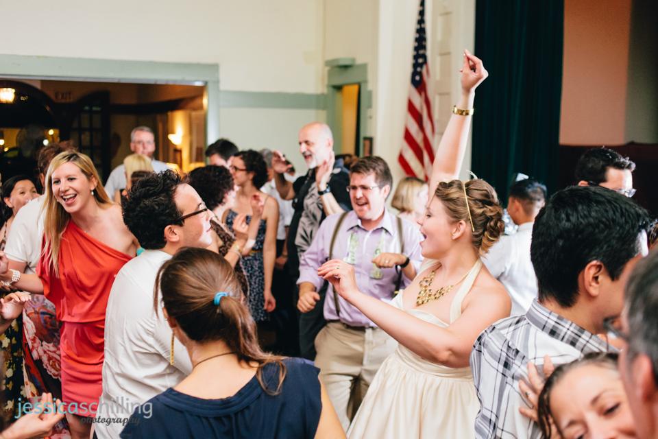 bride and groom dancing at indie wedding reception Los Angeles
